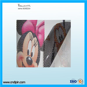 One Way Vision Film 140GSM Printing Vinyl Banner Material pictures & photos