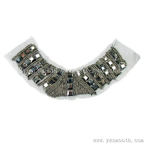 Wholesale Fashion Rhinestone Bead Yarn Collar Fabric Garment Accessories