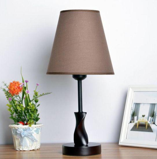 Decor Table Light Resin +Fabric Creative Retro Lamp