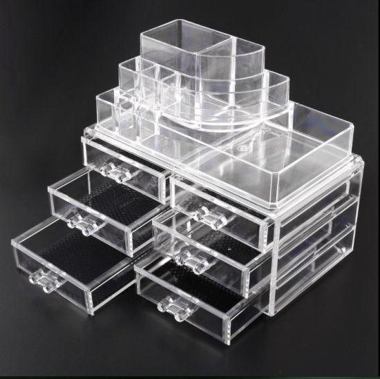China Clear Makeup Box With 6 Drawers Acrylic Jewelry Organizer