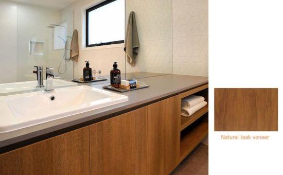 China Teak Wood Timber Veneer Kitchen Cabinets Home Furniture China Wooden Kitchen Home Furniture
