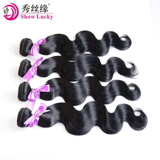 "Machine Made Double Weft Fiber Hair Extension Body Wave Kanekalon Hair 12""-28"" Pure Color Synthetic Hair Weaving pictures & photos"