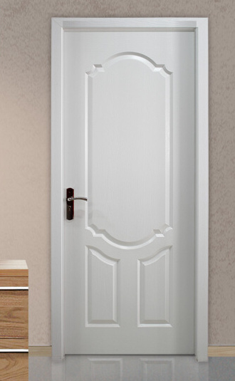 Modern Simple White Interior PVC Laminated Wooden Door