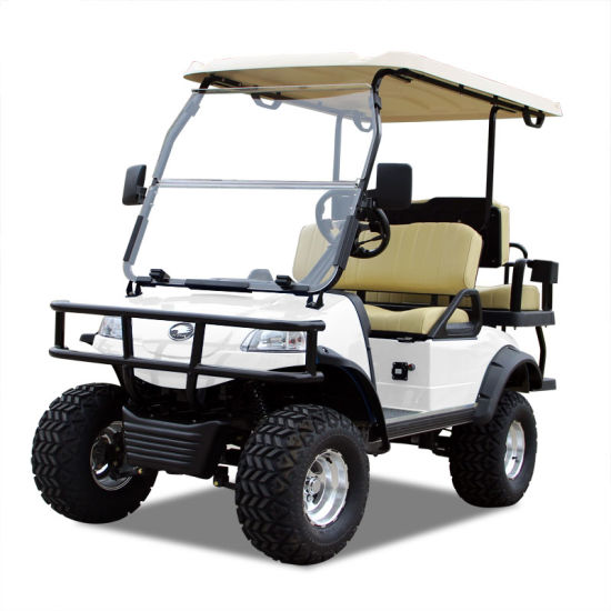 Electric Buggy Golf Cart Hunting Car (DEL2022D2Z, white)