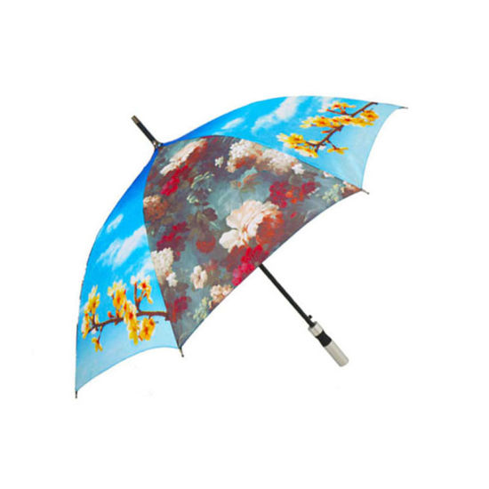 Custom Photo Print Long Handle Umbrella Promotional Gift 23inch