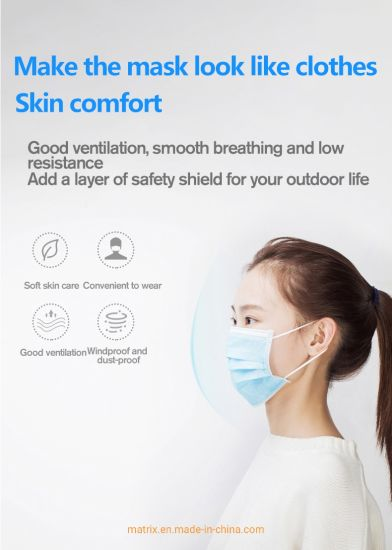 Wholesale Manufacturer Bacterial Protective Non-Sterile Disposable 3 Ply Face Mask