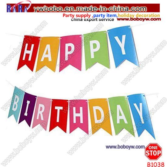 Happy Birthday Bunting Banner Garland Kids Birthday Party Decoration Multi (B1038)