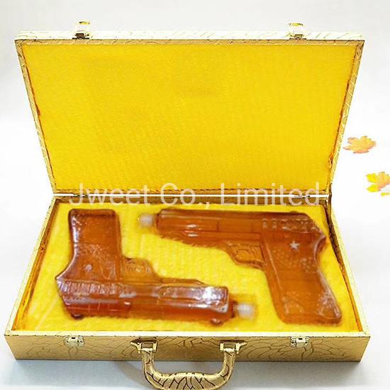 500ml Gun Shape High Borosilicate Glass Bottle for Gin