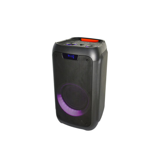 Hot Selling Single 8 Inch High Power Party Speaker PA Bluetooth Portable Professional Wireless Speaker Sound Speaker with LED Light