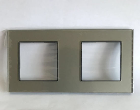 146X86cm 2 Frame Glass Panel Smart Touch Home Switch