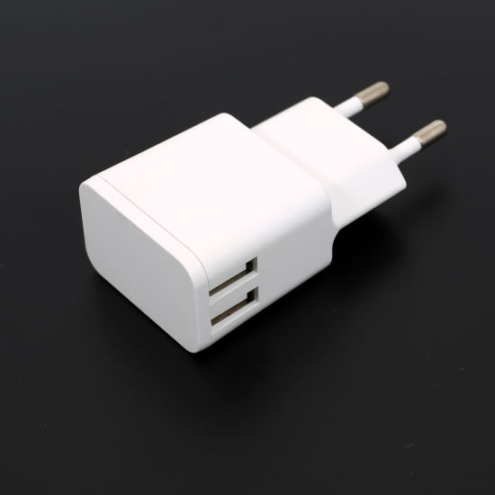 Hot Sales Double USB 5V 2.4A USB Charger with Ce GS Certificates