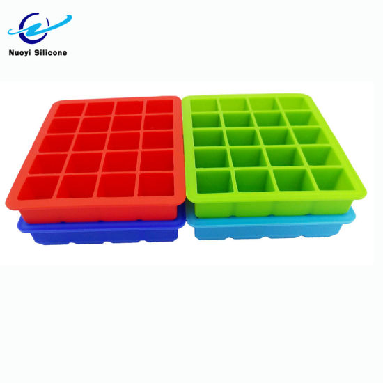 Silicone Ice Cube Trays with Lids Square Shape Freezer