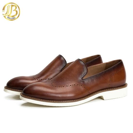 Last Men Athletic School Leather Shoes for Wholesaler