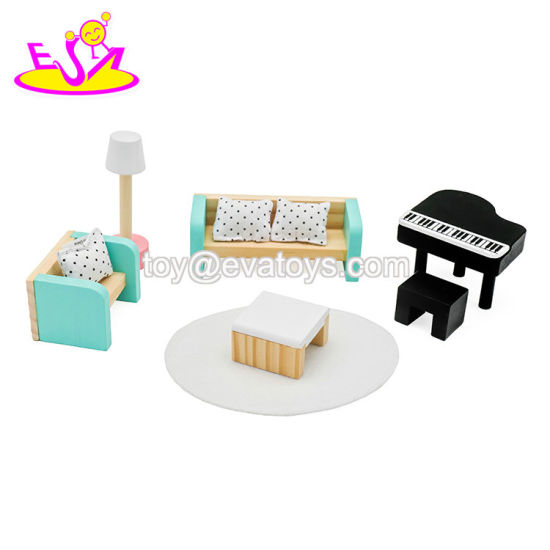 2019 New Design Living Room Wooden Dollhouse Lounge Furniture Set for Children W06b092 pictures & photos