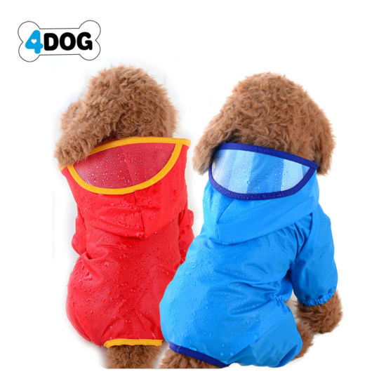Dog Raincoat Waterproof Puppy Jacket Pet Rainwear Clothes for Small Dogs/Cats pictures & photos