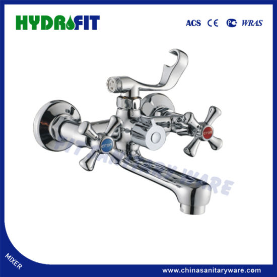 Hot Sale Bathtub Faucet Double Handle Zinc Faucet/Mixer (FT203-21) pictures & photos