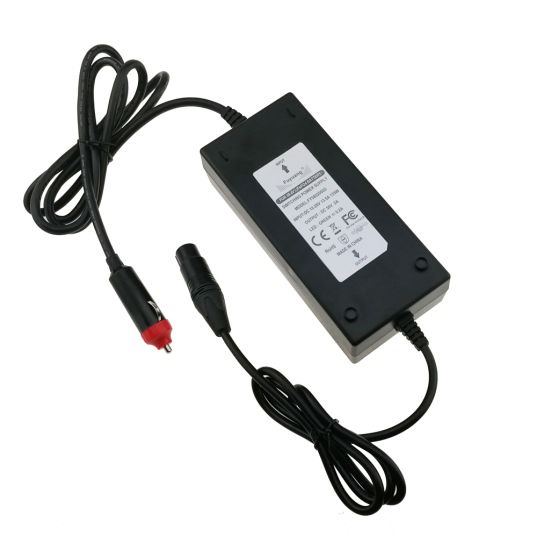 12V DC Input with Cigarette Lighter DC Output 42V 3A Scooter Ebike Car Vehicle Battery Charger