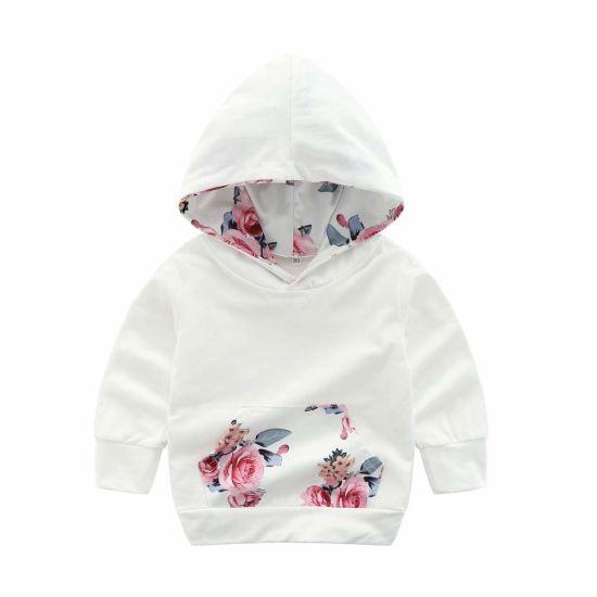 62ca9f864 China Children Baby Kid Girl Floral Print Sweatshirt Hoodie Pullover ...
