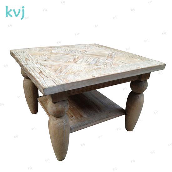 China Kvj 7343 Square Antique Vintage Reclaimed Elm Coffee Table