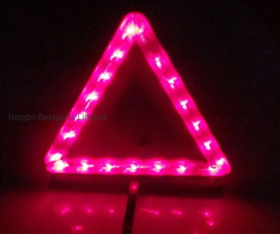 LED Warning Triangle, Traffic Warning Board with 21 PCS LED, Red Emergency Flash Safety Lamp pictures & photos