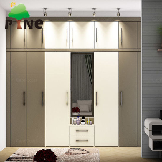 China Living Bedroom Swing Door Assembled Chipboard Plywood
