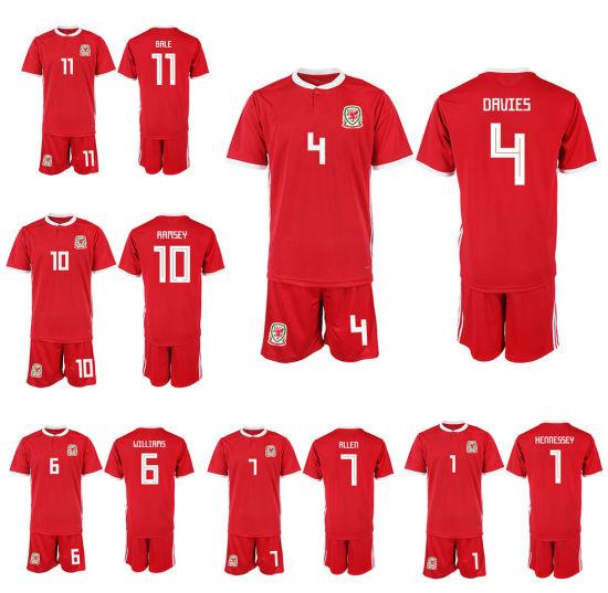 wholesale dealer 5c1ab 5def2 Welsh Soccer Jersey Football Shirt Uniform Gareth Bale Ryan Giggs