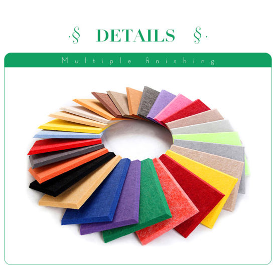 Sound Insulation Fiber Decorative Wall Fire Retardant Church Decoration 100% Recycle Polyester Acoustic Panel pictures & photos