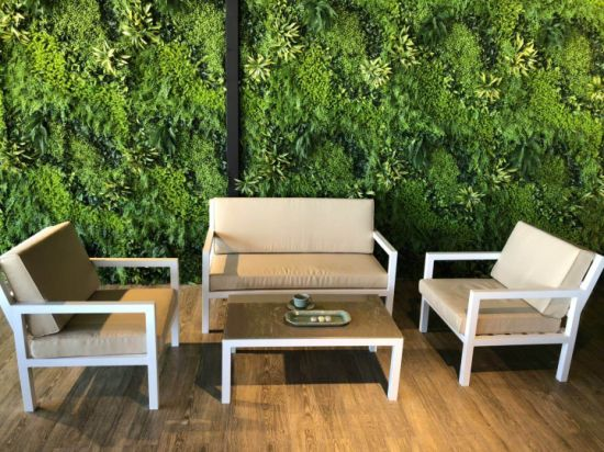 Factory Supply New Popular Garden Aluminum Frame Textilene Rope Leisure Outdoor Patio Sofa