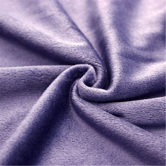 Polyester Microfiber Super Soft Fleece Fabric for Garment and Blanket pictures & photos