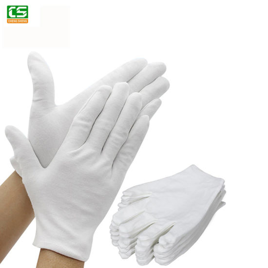 Wholesale Safety Gloves Work Gloves White Cotton Gloves in Stock for Ceremony and Industry