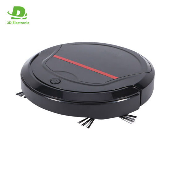 Super Slim 4.5cm Mini Low Noise Robot Vacuum Cleaner with Strong Power