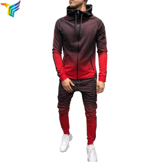 Wholesale Design Your Own High Quality Sport Wear Sets Custom Mens Fitted Tracksuit pictures & photos