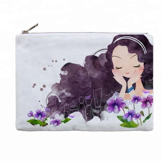 Plain Dye Sublimation Polyester Canvas Cosmetic Bag