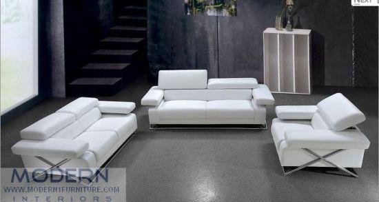 Leather Sofa Contemporary Italian Style