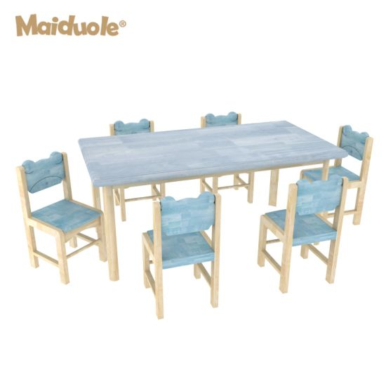 Wooden Kid Table and Chair Settable Painting Table and Chair