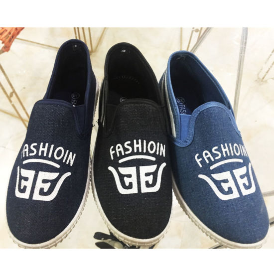 Latest Men Injection Casual Shoes Canvas Shoes (SY-9)