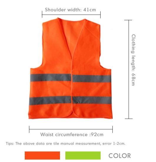 Hi Viz Traffic Safety Reflective Stripes Jacket for Night Running Car Emergency