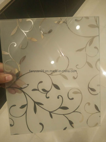 4mm Ice Flower Tianium Acid Etched Glass