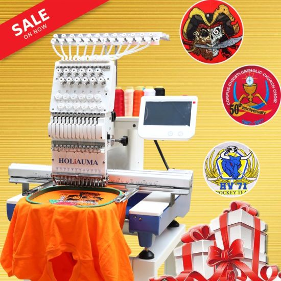 Home Use Commerical Industrial 1 Head Embroidery Machine Top Quality High Speed Multi Function Embroidery Machine