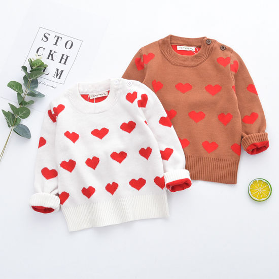 Fashion Children Clothing Baby Clothes 100% Cotton Knit Sweater Set Head Apparel