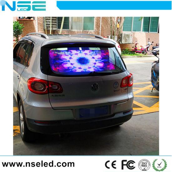 High Brightness P3.9 Transparent LED Video Display Screen for Car Window