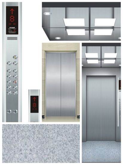 3.0m/S Residential Elevator Stretcher Lift with Hairline Stainless Steel pictures & photos