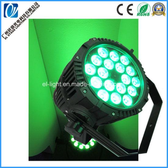 18*15W 6in1 RGBW a UV LED PAR Light Waterproof Outdoor IP68