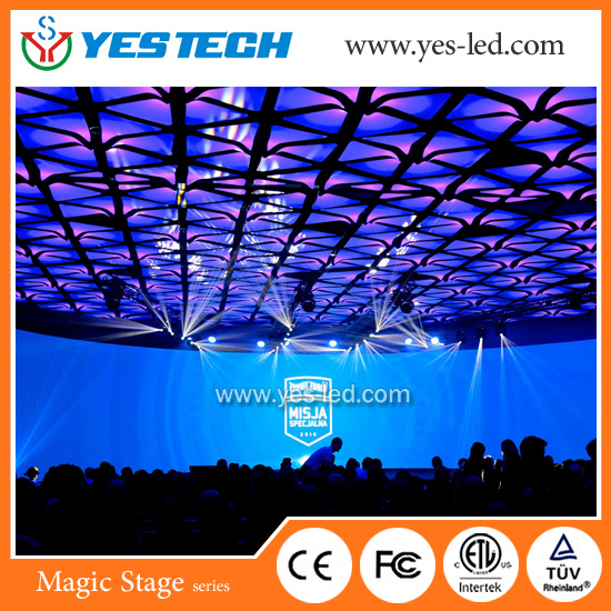 Outdoor/Indoor Full Color Digital Advertising Rental LED Curtain Screen pictures & photos