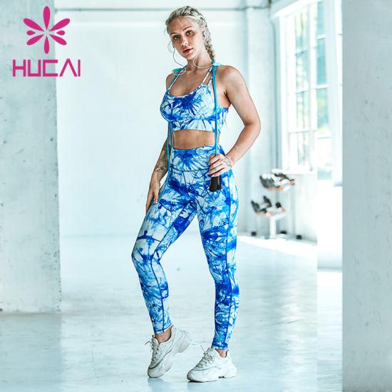 Custom Women Mesh Tight Fitness Sports Yoga Leggings
