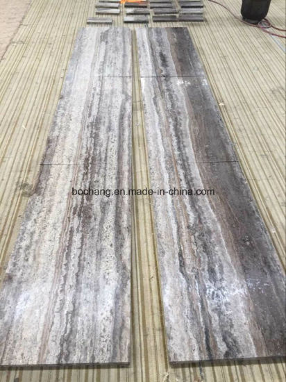 China Silver Grey Travertine For Flooring Tile Slab China Silver