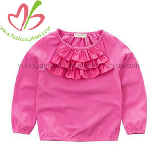 a1c6f78d5def4 China 2018 Long Sleeve Ruffle Blouse for Kids - China Kids T Shirt ...