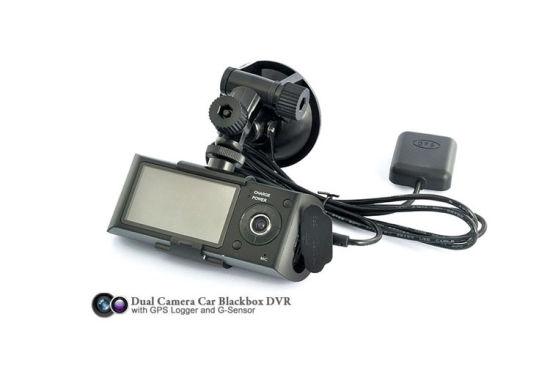 "R300 Dual Lens Dash Cam 2.7/"" Full HD Car DVR Camera Video Recorder w// GPS Logger"
