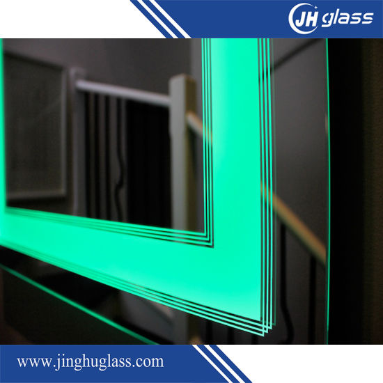 China Aluminum Frame Rectangle LED Backlit Mirror with Touch Sensor ...