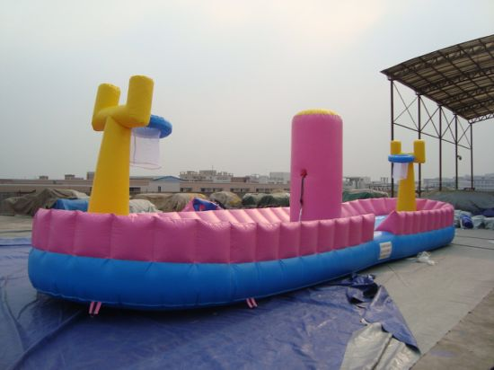 Basketball Sport Game Inflatable Bungee Run